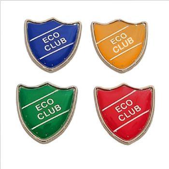 ECO CLUB shield badge